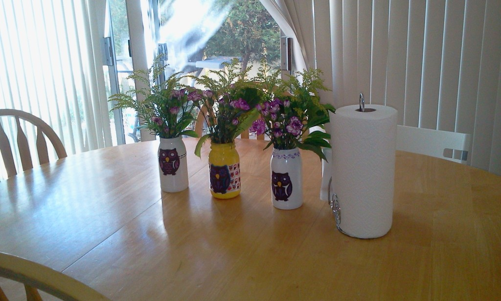DIY Vases from Spaghetti Sauce Jars