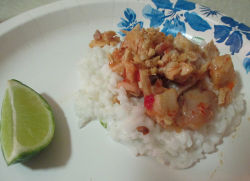 Coconut Sticky Rice with Chicken #LoveEveryMinute