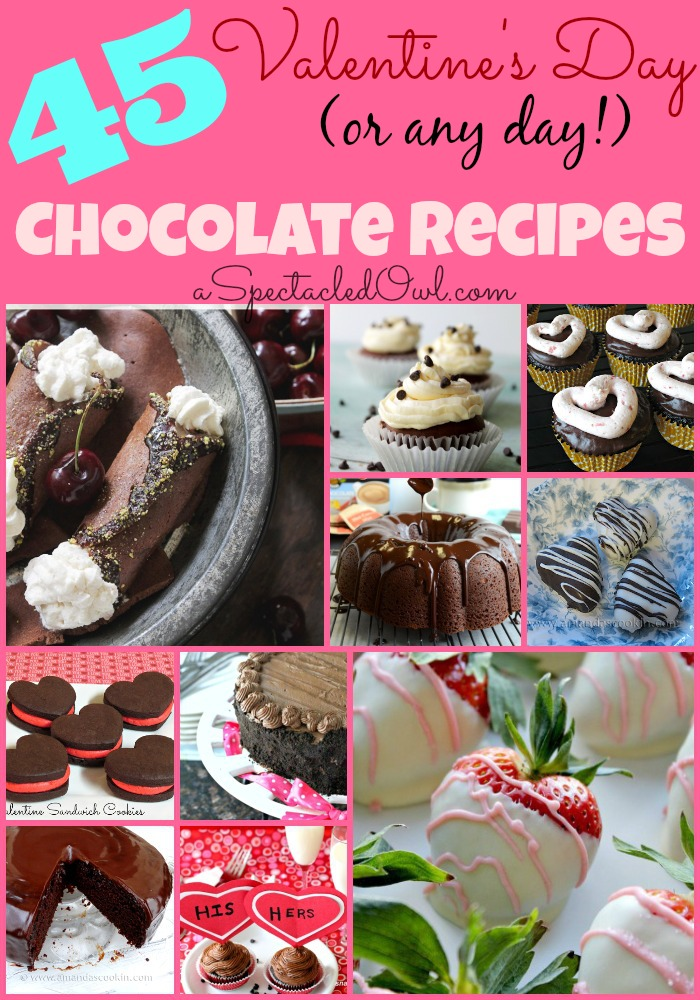 45 Valentine's Day (or any day!) CHOCOLATE Recipes