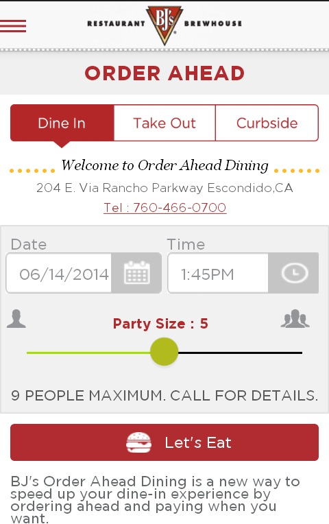 Eating Out Just Got Easier With BJ's Restaurants #DineInOrderAhead