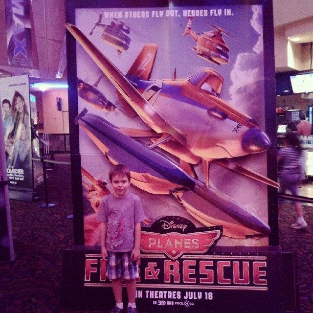 We had a great night watching Disney's Planes:Fire & Rescue! This little man loved it and so did I. The scenery in the movie is so beautiful and well done.