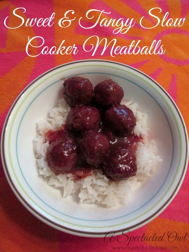 Sweet & Tangy Slow Cooker Meatballs Recipe