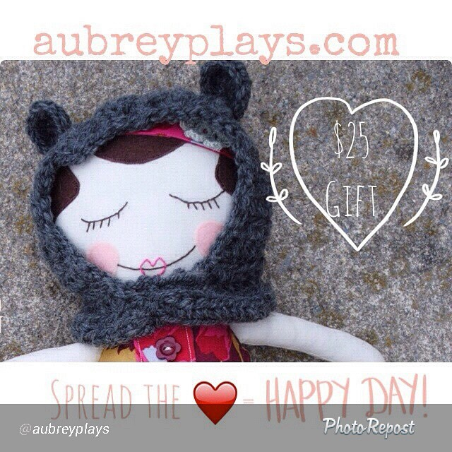 Head on over and check out @aubreyplays. She makes the most adorable dolls and is giving away a $25 gift card to her shop #audreyplays