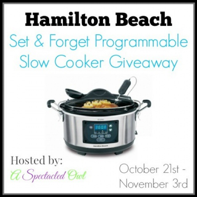 I'm hosting a #giveaway and someone is going to #win a Hamilton Beach Set 'n Forget Programmable Slow Cooker! Link is in profile, head on over to enter! #sponsored #slowcookermeals