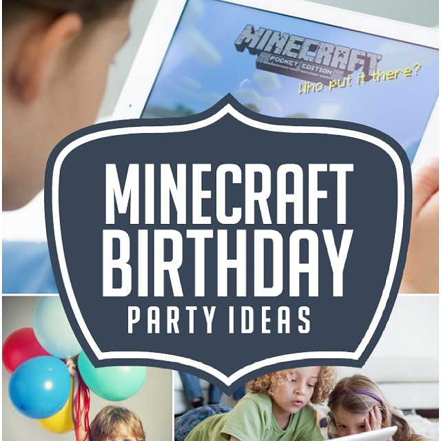 Have a #minecraft lover in the house? #Ontheblog there's a new post about Minecraft Birthday Party Ideas! Link is in the profile