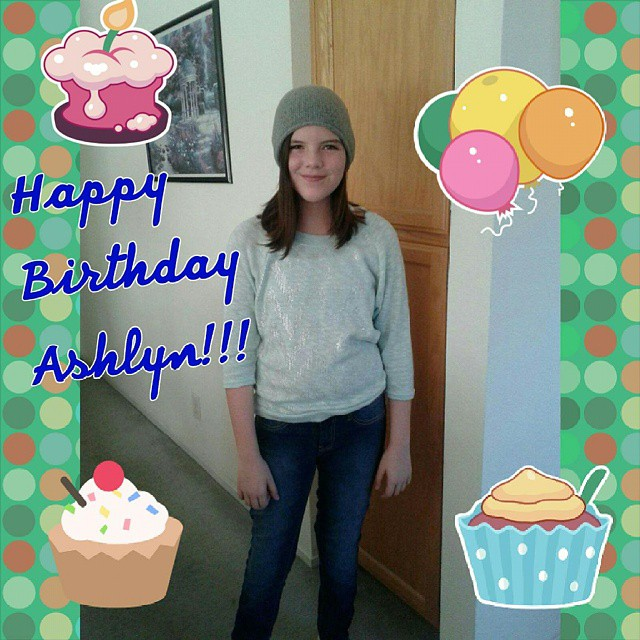Today my favorite daughter turns 12. Hard to believe she's already 12! Happy birthday, Ashlyn!