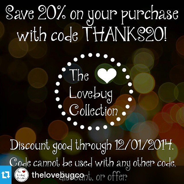#Repost @thelovebugco ・・・ Save 20% on your order now thru Monday with code THANKS20, including #sale items! I've been adding new items over the last few days so if you made a Wishlist be sure to take a look around before you check out. Happy Shopping! #ShopSmall #handmade #ShopTLC #BlackFriday