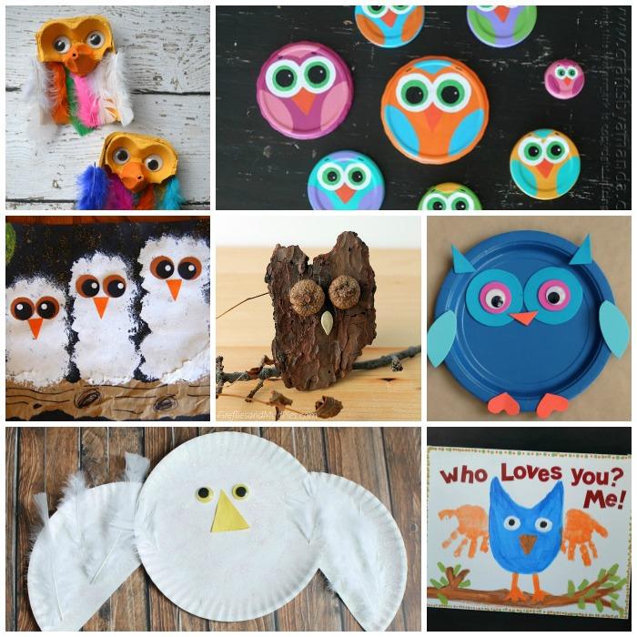 25 Owl Crafts for Kids