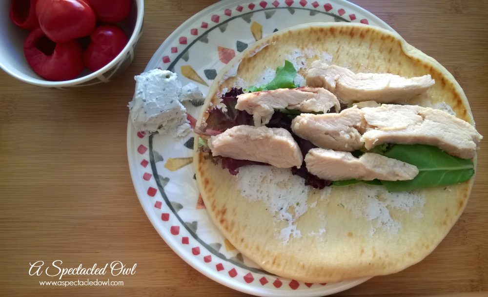 Balsamic Chicken Wrap with Peppers #ReadySetChicken