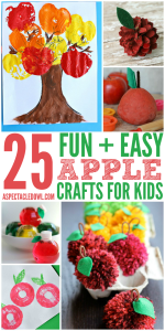 25 Fun & Easy Apple Crafts for Kids