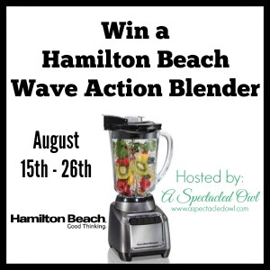 Hamilton Beach Wave Action Blender – Review & Giveaway
