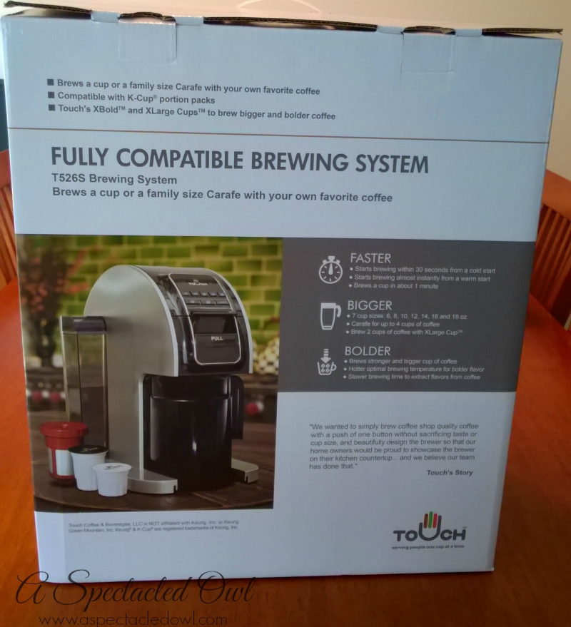 Touch Brewer Brewing System