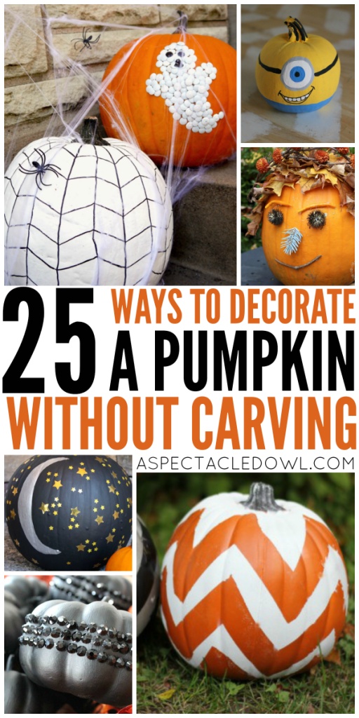 25 Ways to Decorate a Pumpkin Without Carving