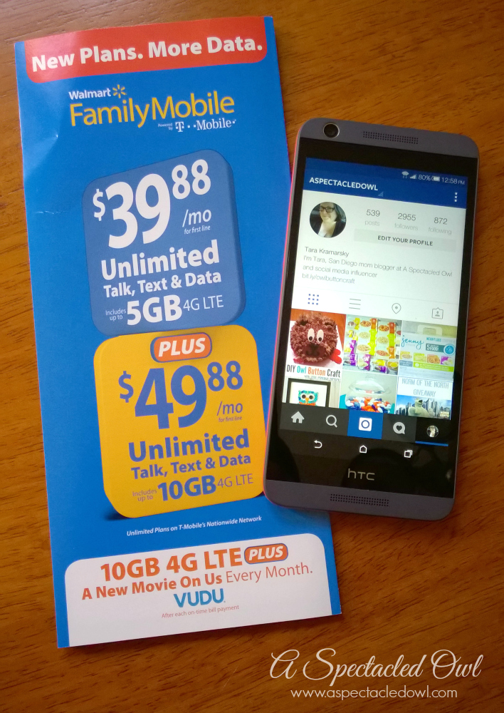 Get More Data PLUS a Free Movie Each Month with Walmart Family Mobile #DataAndAMovie