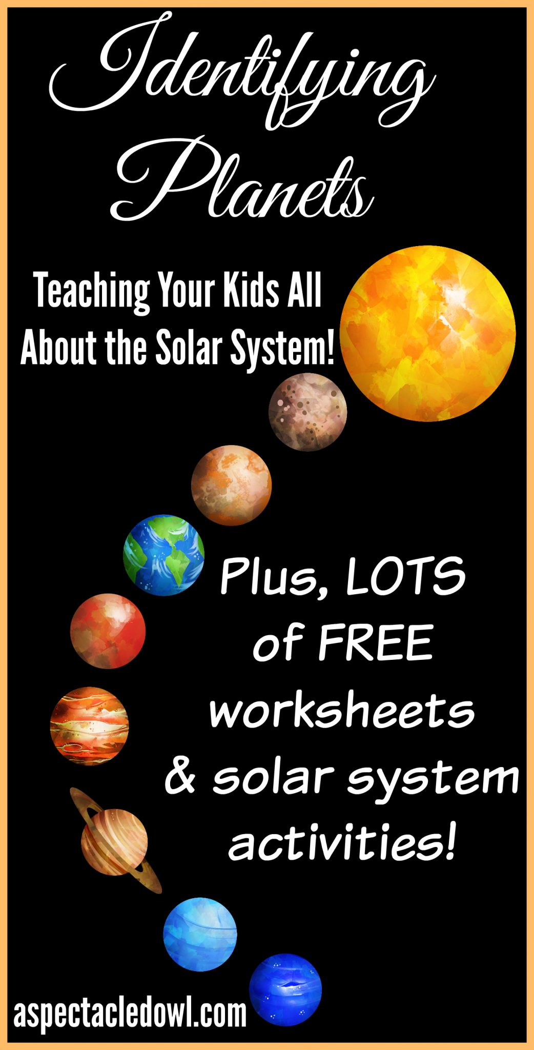 Simple solar system crafts first grade