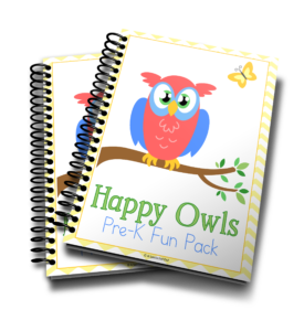Happy Owls Pre-K Fun Pack – Homeschool for Free Series