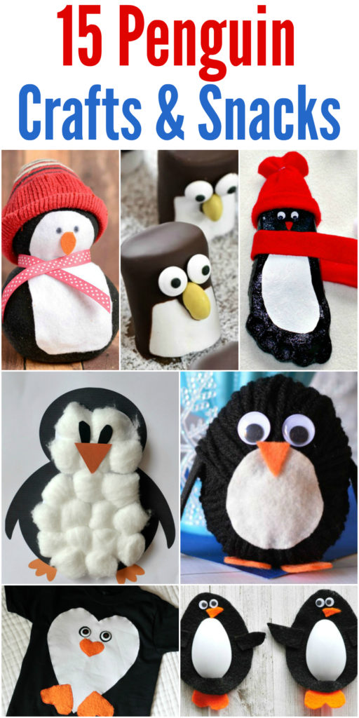 15 Penguin Crafts & Snacks that Your Kids Will Love