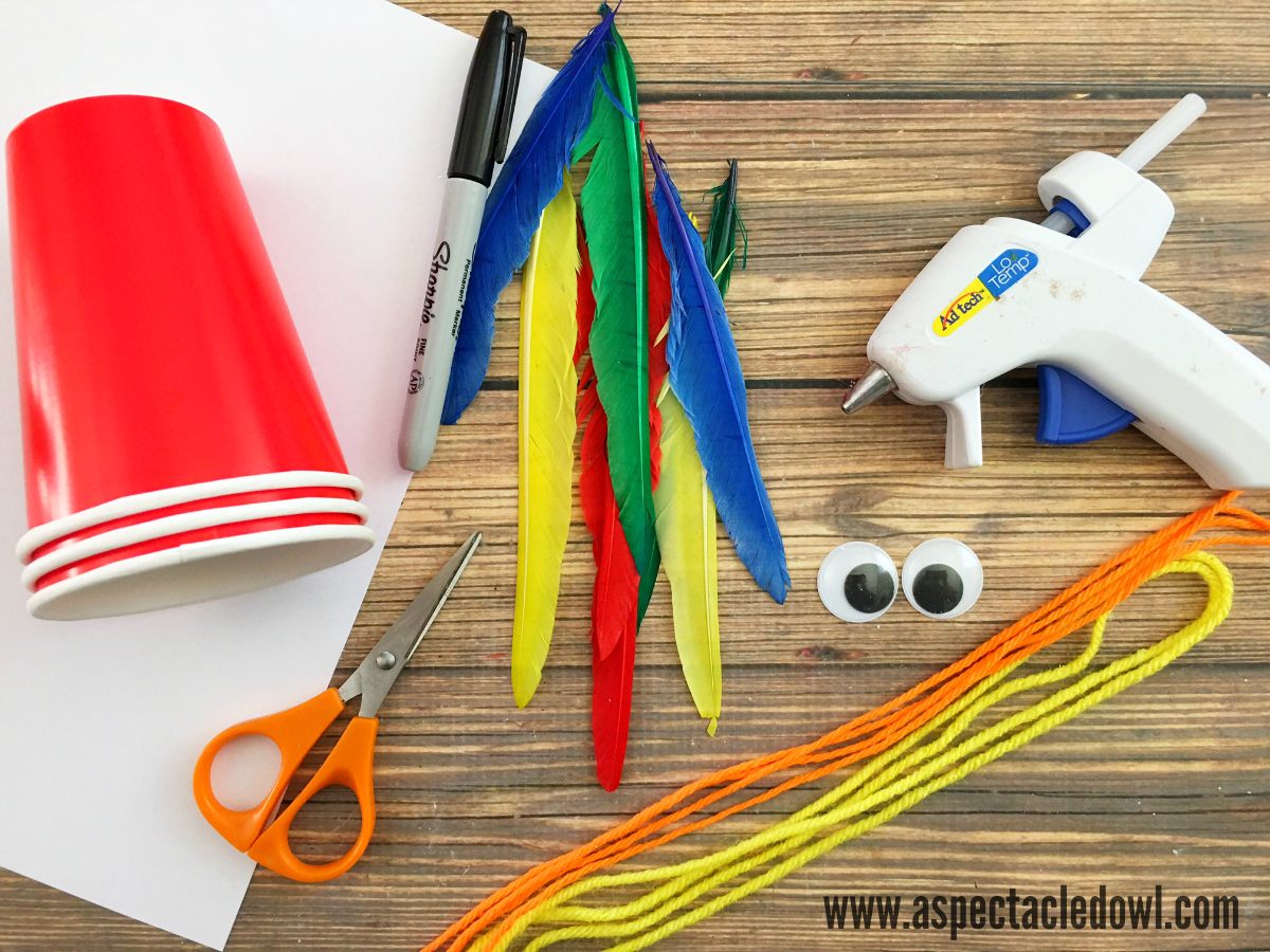 Simple Parrot Craft for Kids