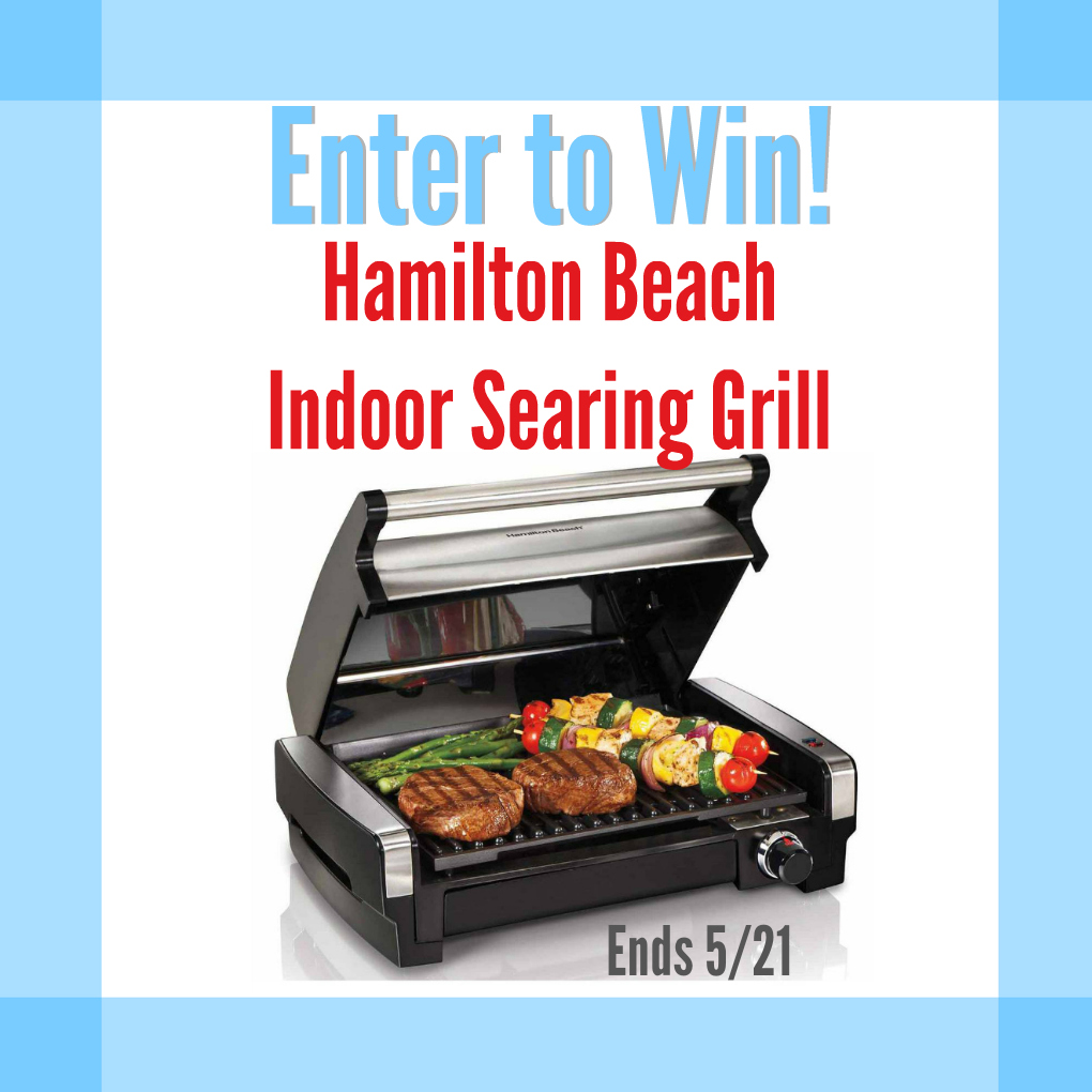 Grill Any Time, Any Place with a Hamilton Beach Indoor Searing Grill