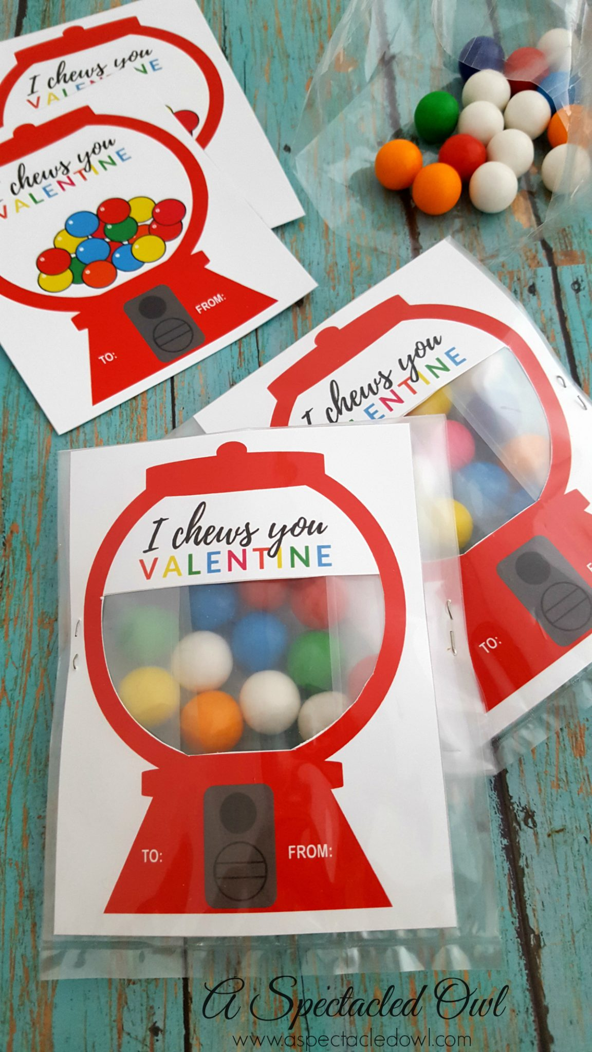 u0026quot i chews you u0026quot  gumball machine valentine u0026 39 s day card