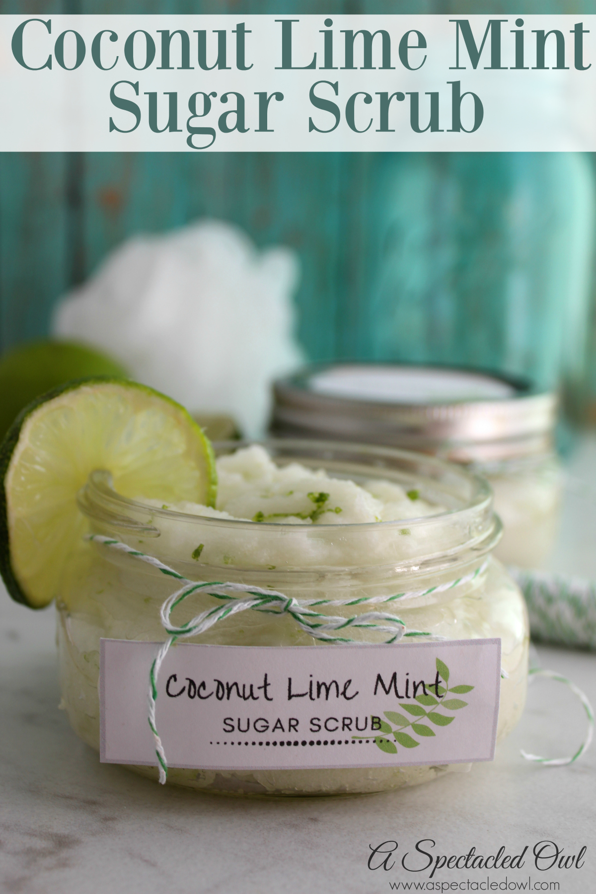 Coconut Mint Lime Sugar Scrub Recipe - I love how sugar scrubs make my skin feel so soft! I also love that you can make so many different scents depending on your mood or the season.