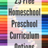 25 Free Homeschool Preschool Curriculum Options