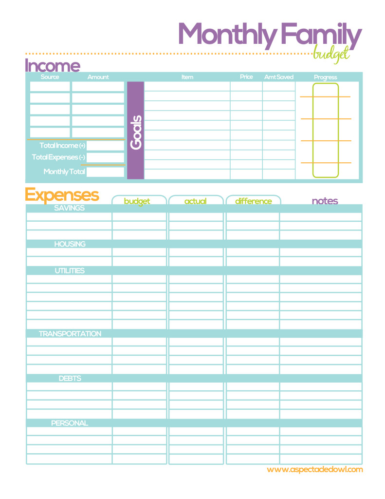 It is a graphic of Striking Printable Monthly Budget Templates